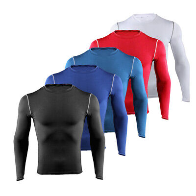 £4.99 • Buy Mens Compression Top Short Sleeve Shirt T-Shirt Gym Wear Under Base Layer Tights