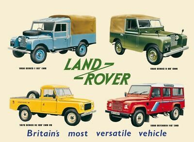 LAND ROVER  Vintage Retro Metal Tin Sign Poster Plaque Garage Wall Decor A4 • 8.99£