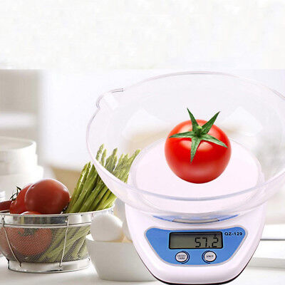5kg Digital Kitchen Scales Lcd Electronic Cooking Food Measuring Bowl Scale • 5.99£