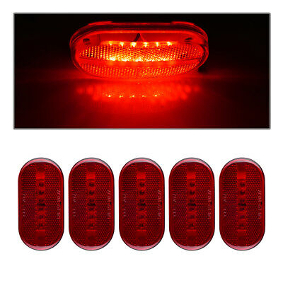 5) 4 X 2  Red Truck Trailer Boat RV Light 6LED Clearance Side Marker Light 12V • 13.28$