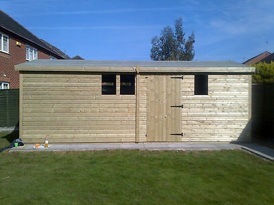 18x12ft Large Wooden Garden Shed Heavy Duty Summer House 19mm  Office For Sale • 1,980£