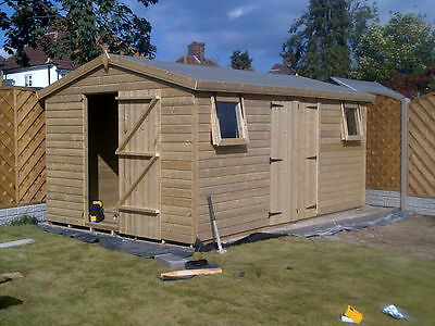 £2588 • Buy 20x10ft SUMMERHOUSE WOODEN GARDEN SHED TANALISED ULTIMATE 19mm