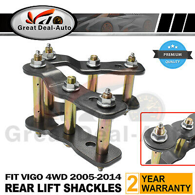 AU84.90 • Buy 2  INCH LIFT REAR EXTENDED GREASABLE SHACKLES For TOYOTA HILUX VIGO 05-2016 KIT