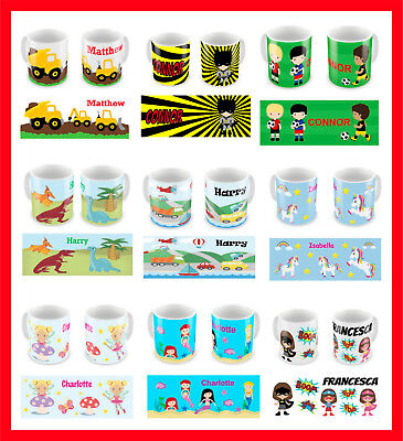 Personalised Children's Kids BOYS GIRLS Mugs / Cups Gift Boxed **Any Name** • 9.99£