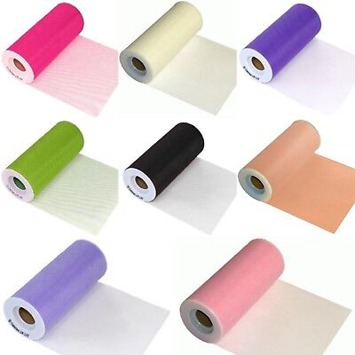 Tulle Finesse Fine Net Fabric Roll 6 Inch X 25 Yards Wedding Balloon Party Craft • 4.98£