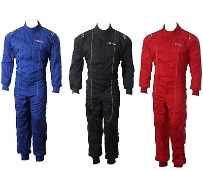 Adult Karting Go Kart Race Rally Suit Poly Cotton One Piece Overall NEW • 37.99£