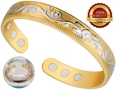 £8.69 • Buy Copper Magnetic Health Bracelet 6 Magnets Bangle Pain Therapy Healing Arthritis