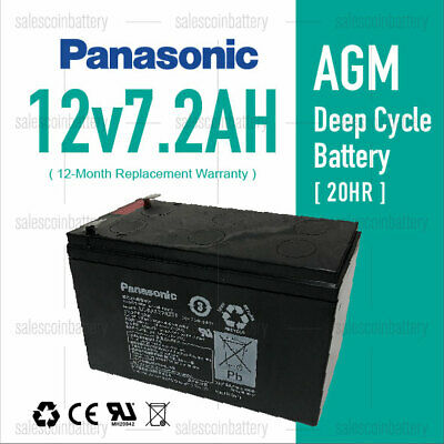 AU38.69 • Buy Panasonic 12V7.2AH 7ah UPS SLA AGM Sealed Lead Acid Battery For NBN Toys UPS