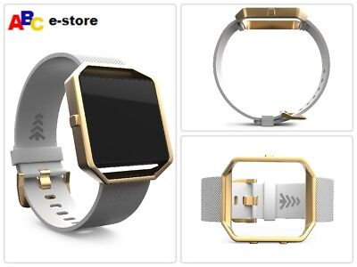 $ CDN28.83 • Buy Fitbit Blaze Band Stylish Replacement Band Stainless Steel Loop Small White/Gold
