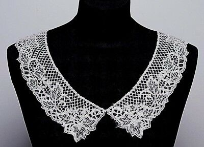 Embroidered Venice Lace Collar Ivory (47366) - Sew On Dressmaking  • 2.45£