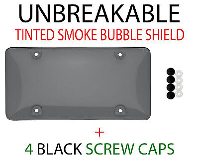 $6.95 • Buy 1 X Tinted Clear/Smoke Protector License Plate Frame Shield Cover Front & Rear