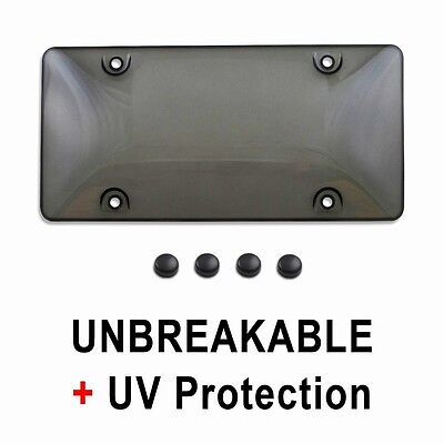 $5.95 • Buy Tinted Smoke License Plate Tag Frame Cover Shield Protector For Auto-Car-Truck