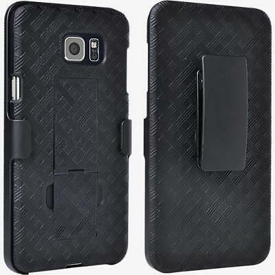 $ CDN66.97 • Buy 10X Samsung Galaxy S6 Edge+ Plus Shell/Holster Combo Case W/ Kickstand In Black