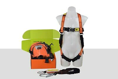 Safety Harness | Double Point Harness + 2m Scaffold Lanyard + Backpack | ARESTA • 90.99£