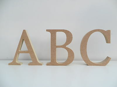 Wooden MDF Letters Free Standing Uppercase 8cm,15cm High NEW 15mm Thickness • 1.25£