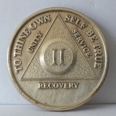 $8.20 • Buy Alcoholic 2 Year Recovery 2 Yr Chip Medallion Coin Medal Token  AA Anonymous