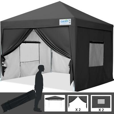 $149.99 • Buy Upgraded Quictent 10x10 EZ Pop Up Canopy Gazebo Party Tent With 4 Sides Black