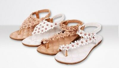 £5.99 • Buy Womens Summer Sandals Floral Gladiator Fashion Beach Holiday Shoes UK Seller