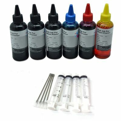 Sublimation Ink For Epson Ricoh Black Cyan Magenta Yellow Cyan 6 X100ml Bottle • 26.95£