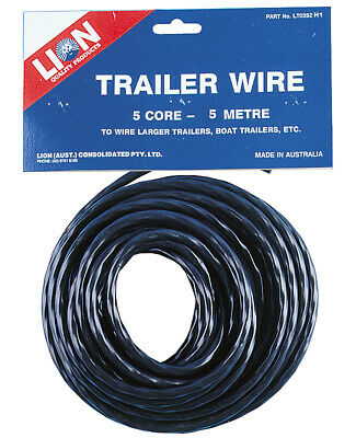 AU19.99 • Buy Lion Electrical Trailer Wire Cable [Length: 5 Metres] [Size: 5 Core]