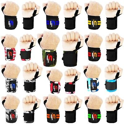 £3.99 • Buy Power Weight Lifting Wrist Wraps Gym Training Straps Hand Bar Support Gloves NEW