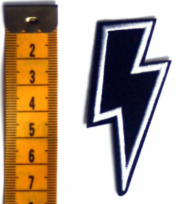 £1.79 • Buy Thunder Lightning Patch Bolt Embroidered Iron Sew On Heavy Metal AC/DC Rock