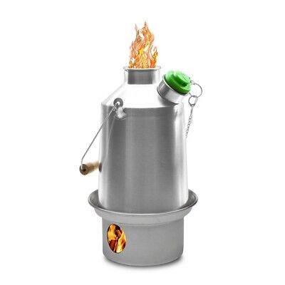 Stainless Steel SCOUT (1.2 Liter) Kelly Kettle & Kits. Camping Stove & Kettle  • 58.95£