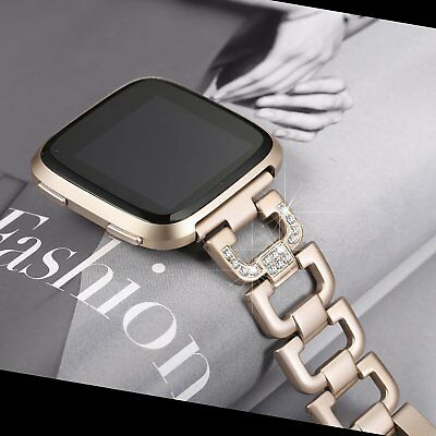 $ CDN37.81 • Buy Metal Bracelet Bling Band For Fitbit Versa Replacement Strap Luxury Wristband