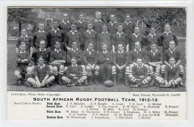 SOUTH AFRICAN RUGBY FOOTBALL TEAM, 1912-13: Rugby Football Postcard (C34647) • 10£