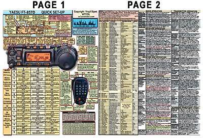 AU15.31 • Buy   Yaesu Ft-857d Ft-857 Amateur Ham Radio Datachart Manual Info Page Sz (indexed)