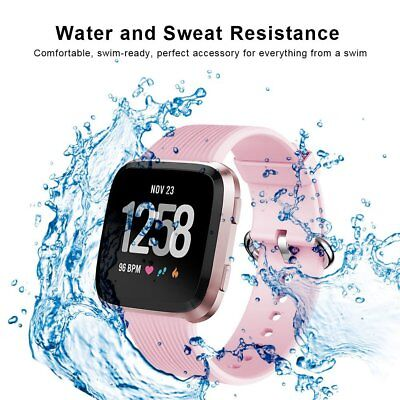 $ CDN22.85 • Buy For Fitbit Versa Band Soft Silicone Comfortable Wristband Metal Buckle Pink New