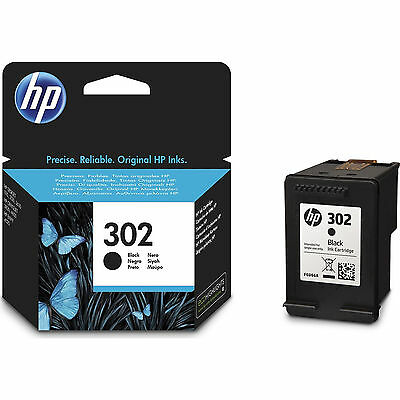 New Genuine HP 302 Black Ink Cartridge For Deskjet 1110 2130 3630 F6U66AE • 13.99£