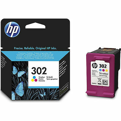 New Genuine HP 302 Colour Ink Cartridge For Deskjet 1110 2130 3630 F6U65AE • 16.70£