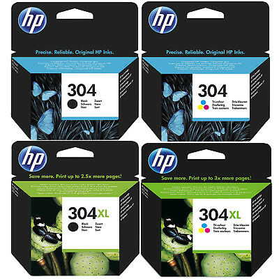 Genuine HP 304 / 304XL Black & Colour Ink Cartridges *Choose Your Ink* • 13.75£
