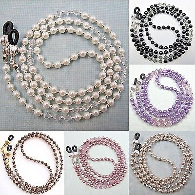 AU19.99 • Buy Pearl Crystal Eyeglass Glasses Sunglasses Spectacles Holder Cord Chain Strap