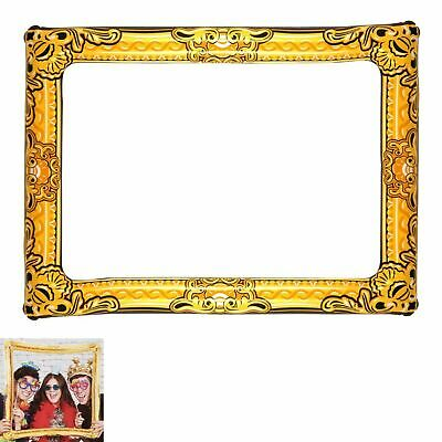 GIANT INFLATABLE PHOTO FRAME Selfie Booth Props Blow Up Hen Party Fun Wedding • 3.99£