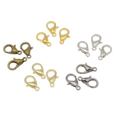 Lobster Clasp Keyring Trigger Clip Key Chain Ring Holder 12mm Hooks Findings UK • 1.65£