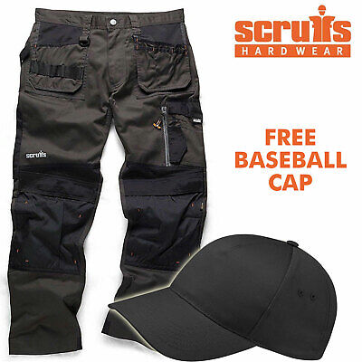 Scruffs 3D TRADE GRAPHITE Cargo /  Combat Work Trousers With FREE CAP • 49.95£