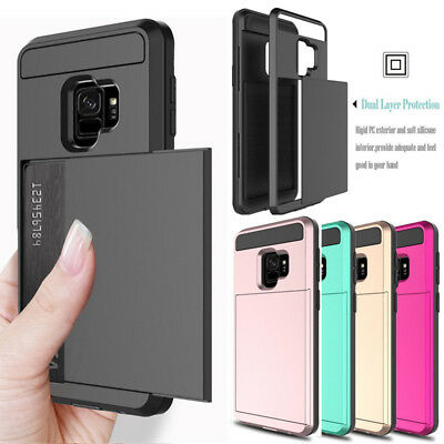 $ CDN5.62 • Buy For Samsung Galaxy S9 S8 Plus Wallet Case Credit Card ID Holder Slim Case Cover
