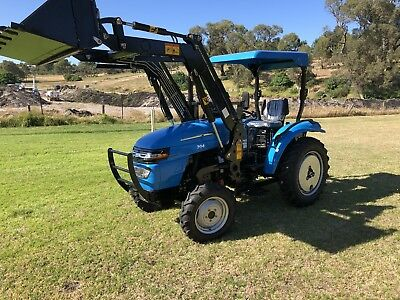 AU16500 • Buy Tractor 30hp Ag King 4/ In One Bucket With 4 Ft Slasher And Pallet Forks .