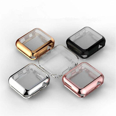 $ CDN8.03 • Buy For Apple Watch Series 5 4 3 2 Slim TPU Full Screen Protector Protect Case Cover