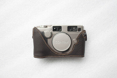 $ CDN77.62 • Buy Handmade Genuine Real Leather Half Camera Case Bag Cover For Contax G2