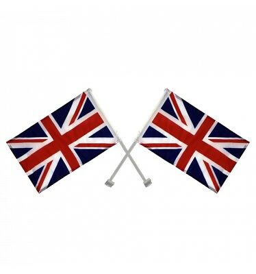 2 X Union Jack Window Car Flags United Kingdom Great Britain With Free Delivery • 2.80£
