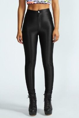 £12.99 • Buy  Womens/ladies American Apparel Style Shiny Disco Trouser  Pants Size 6_14