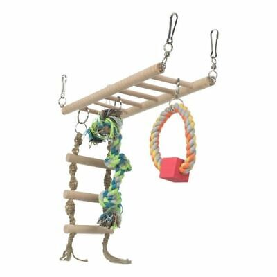 TRIXIE Cage Hanging Suspension Bridge Ladder Toy - Hamster Mouse Gerbil Rope Fun • 6.59£