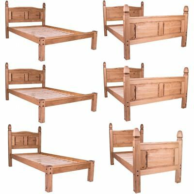 £149.95 • Buy Corona Single Double King Bed Low High Foot End Solid Wood Pine Frame Bedroom