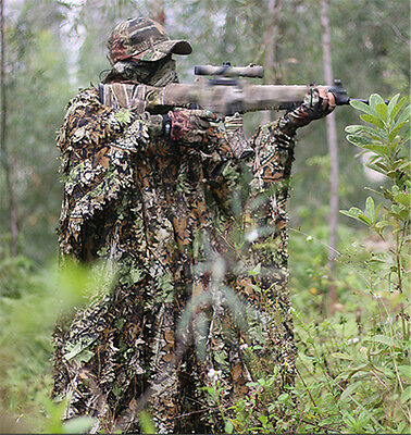 AU32.30 • Buy 3D Leaf Camouflage Clothing CS Camo Coverall Sniper Archery Hunting Ghillie Suit