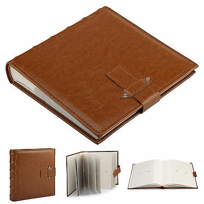 6x4   Vintage Leather Photo Album Cover Accommodate 200 Photos With Memo Brown • 10.25£