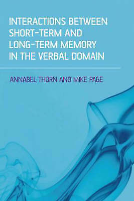 £98.31 • Buy Interactions Between Short-Term And Long-Term Memory In The V... - 9781841696393