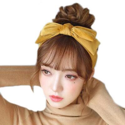 $ CDN5.95 • Buy Velvet Hairband For Women Girls Hair Accessories Headband Big Bow Headwear Party